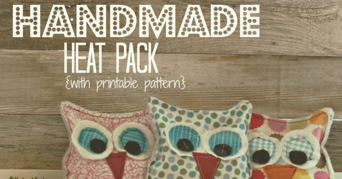 Sweet Stocking Stuffer Handmade Owl Heat Pack