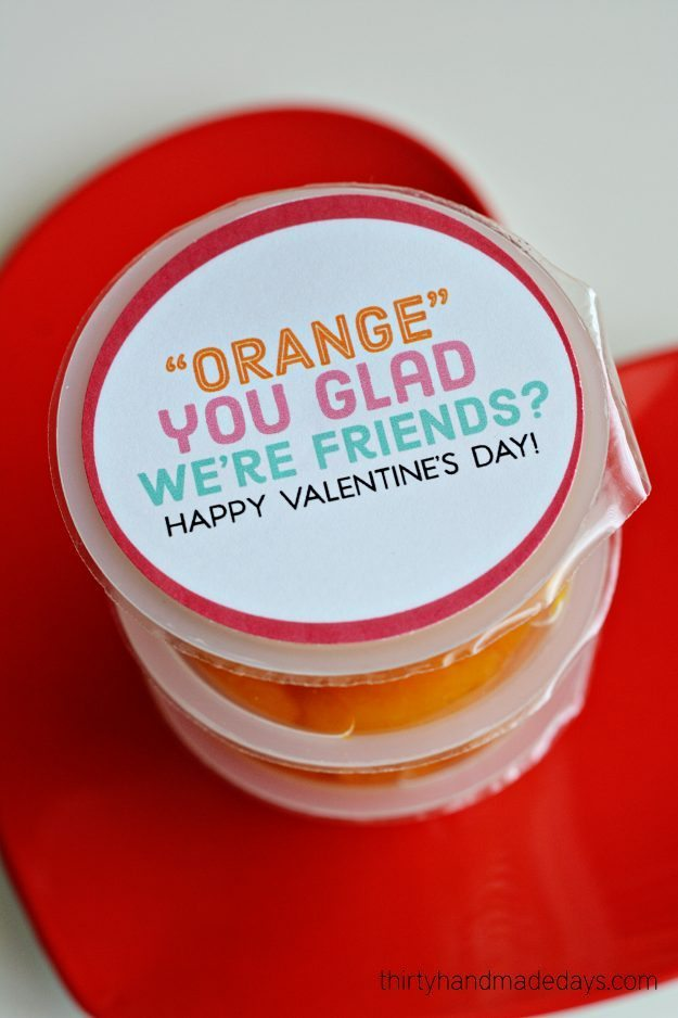 Orange You Glad Printable Valentines