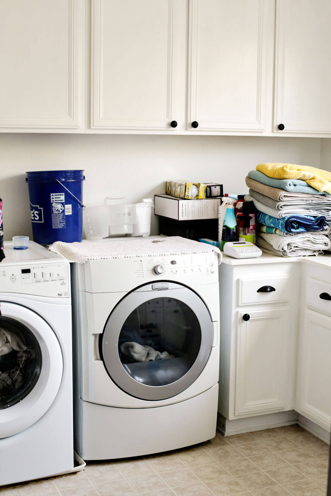How to Organize Your Laundry Room Cabinets from 30daysblog on Laundry Cabinets  id=26557
