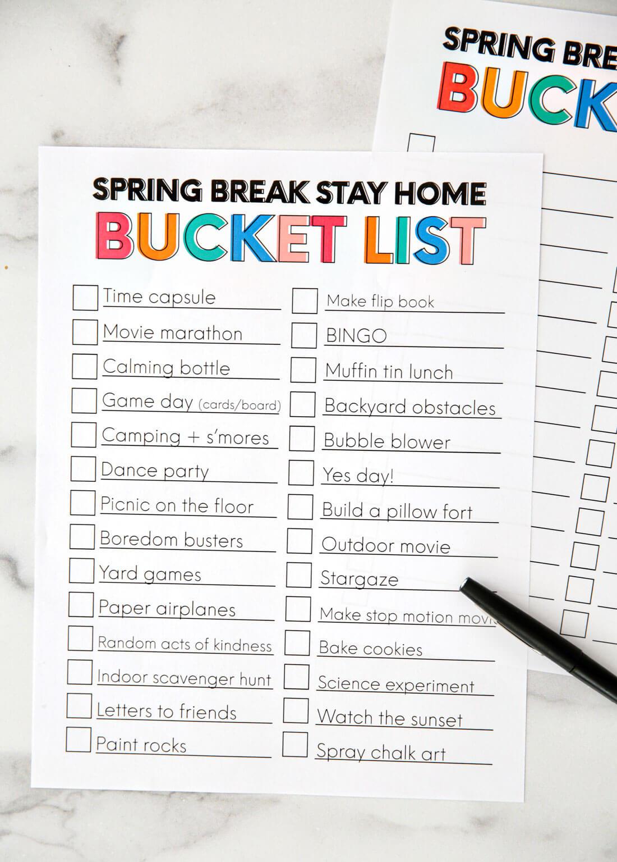 Spring Break Ideas From Thirty Handmade Days