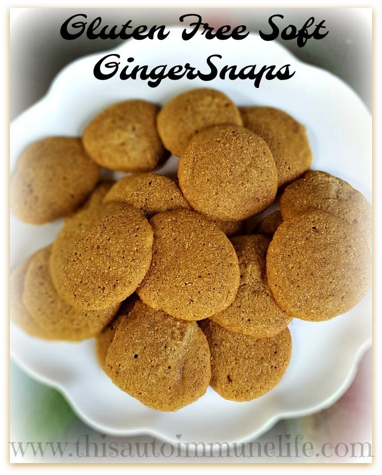 Gluten Free Soft Ginger Snaps