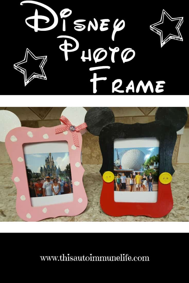 April Upcycle Challenge Blog Hop - Wooden Disney Photo Frame