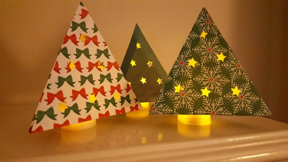Lighted Christmas Tree Decorations from www.thisautoimmunelife.com #christmas #decorations #cricut