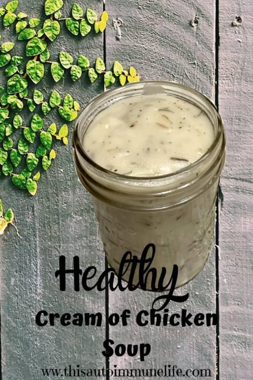 Healthy Cream of Chicken Soup #creamofchickensoup #healthy #glutenfree #dairyfree