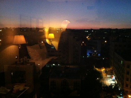 Amann sunset from the 8th floor