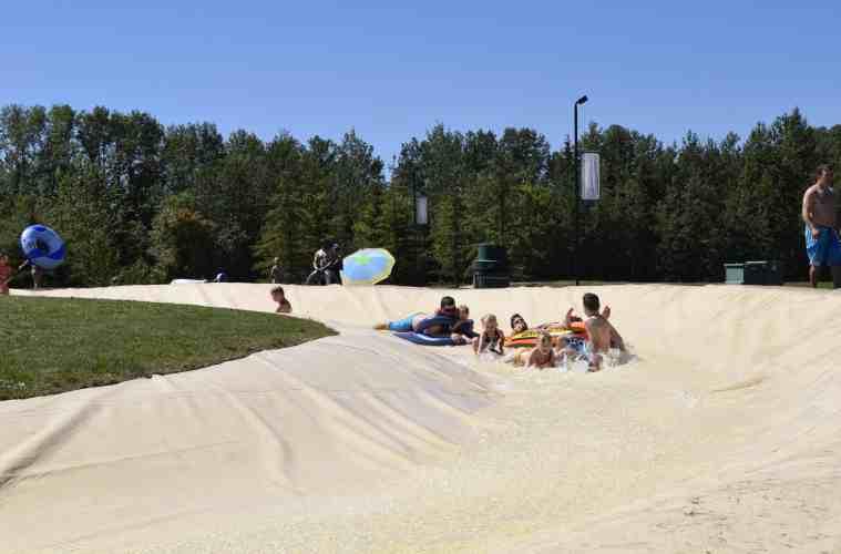 Whitecourt Rotary Park River Slides