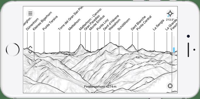 Best Camping Apps: Peak Finder Earth App