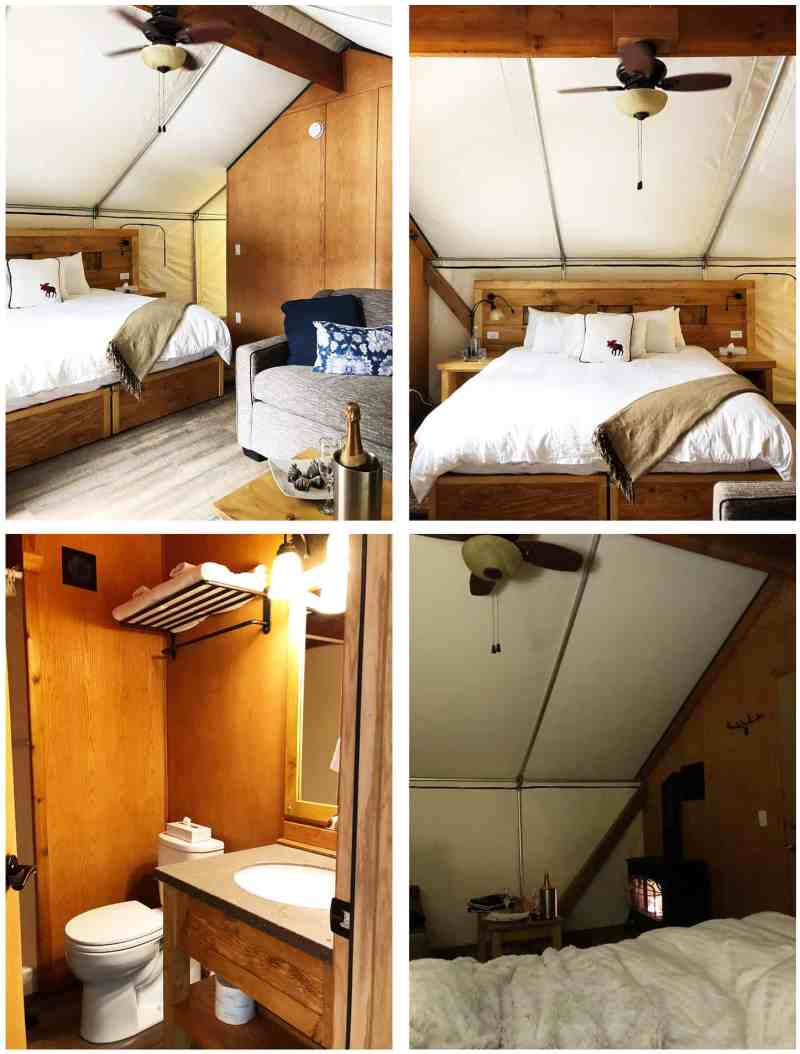 Inside a Glamping Tent at Mount Engadine Lodge
