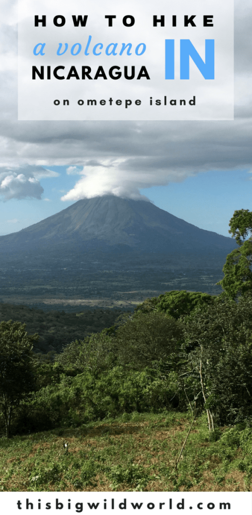 Image of Volcano Concepcion from the hiking trail on Volcano Maderas on Ometepe Island in Nicaragua.