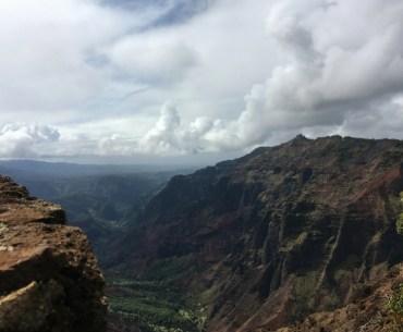 Image overlooking beautiful Waimea Canyon in Kauai.