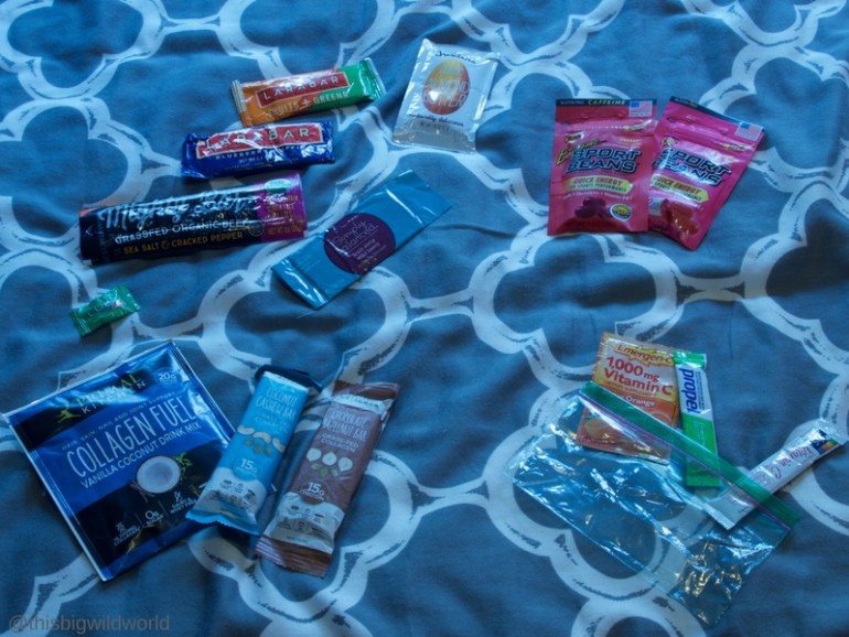 Image of snacks and drinks to pack for the Inca Trail hike in Peru.