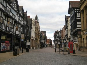 Image of the city centre of Chester in the Northwest of England near Liverpool.