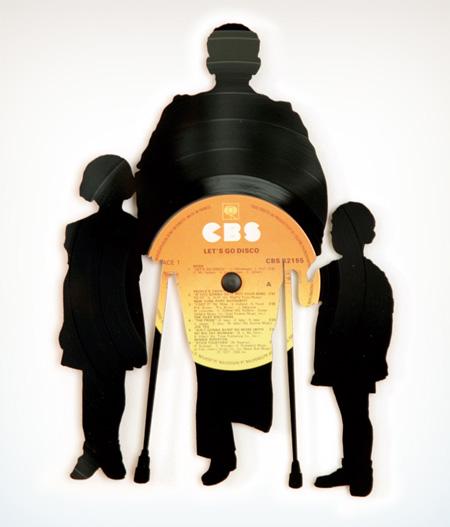 art made of vinyl records (3)