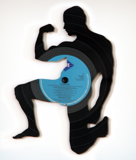 art made of vinyl records (7)