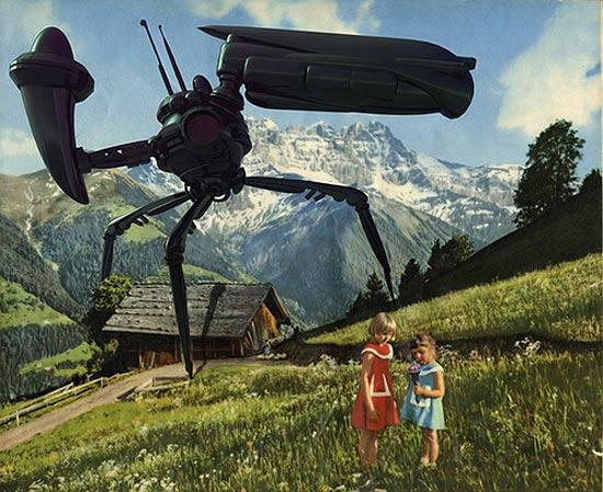 monster-invade-old-postcard