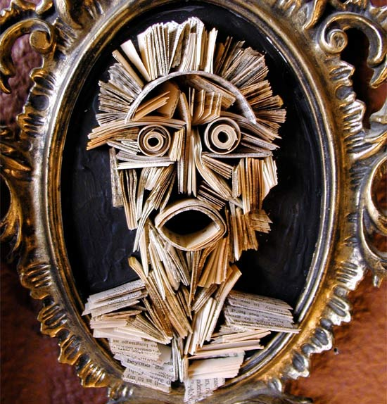 newspaper-face-sculpture