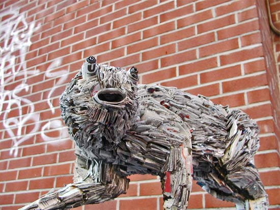 Sculptures And Art Installations Made Out Of Newspapers