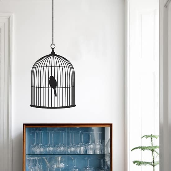 Bird cage sticker