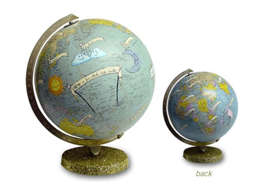 Prodigious art on world globes 2018 this blog rules so when you think its time to spice up your office desk you should definitely check out imaginenations for some ideas wendy gold will thank you gumiabroncs Gallery