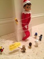 Elf on a shelf all tied up