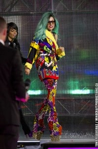 Shocking Lady Gaga Outfits and Bright and Bold Suit