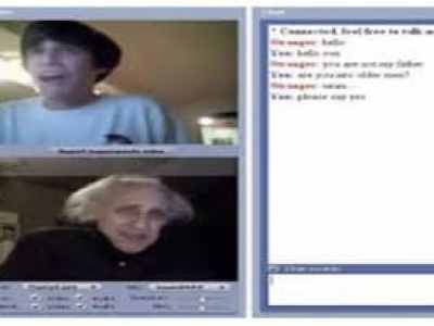 chat roulette screenshot old grandma