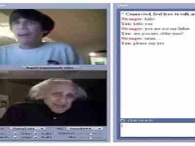 chat roulette screenshot old grandma