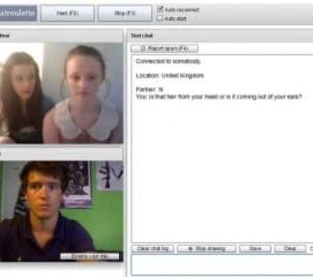 chat roulette screenshot hair fail