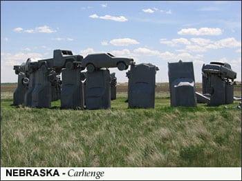 Tourist Attractions and Carhenge, USA