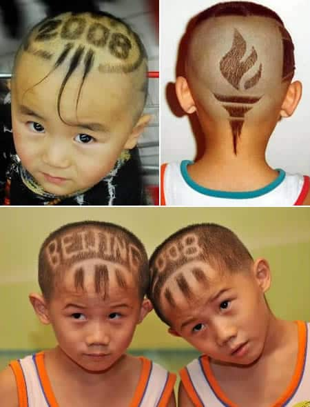 Weirdest Haircuts and The Beijing Olympics Haircuts