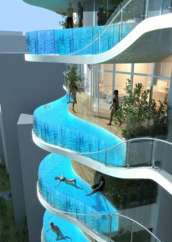 Exciting Swimming Pools and The Balcony Pools, India
