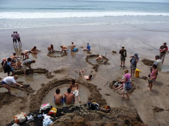 The Hot Water Beach in New Zealand and Unusual Beaches