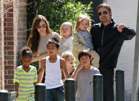 brad angelina kids