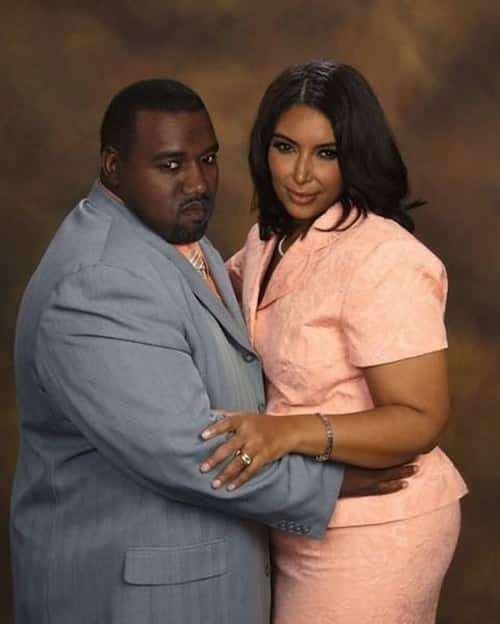 kim kardashian kanye west celebrities as average people