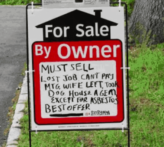 Funny House for Sale Signs