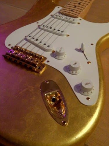 fender gold leaf stratocaster most expensive guitars
