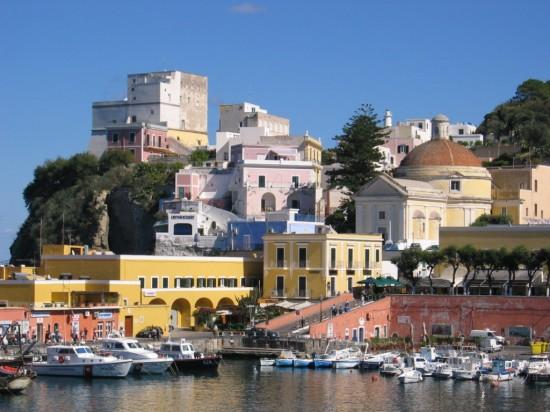 Ponza is an Italian coastal town