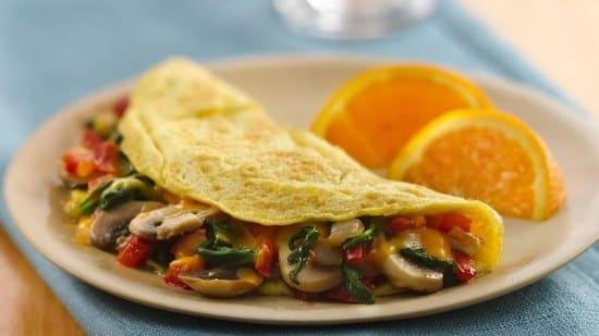healthy breakfast recipes vegetable omelet