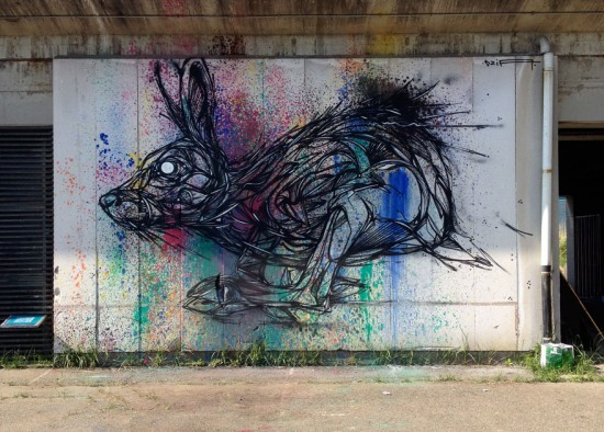 geometrical animal street art