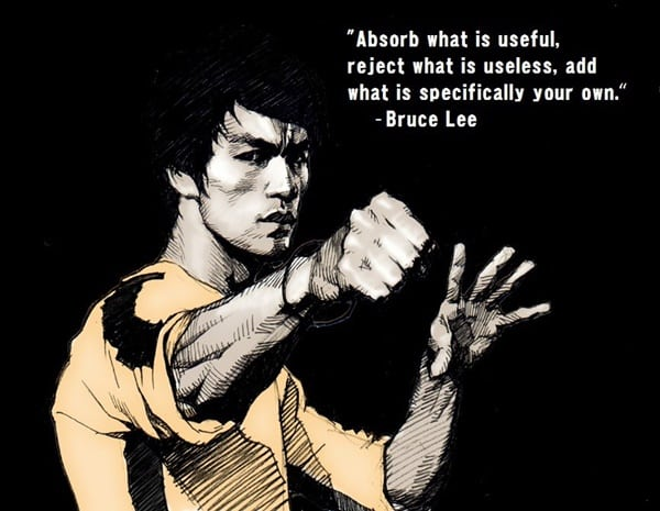 5 top brutal effective martial arts - Jeet Kun Do, invented by Bruce Lee, portrayed here.
