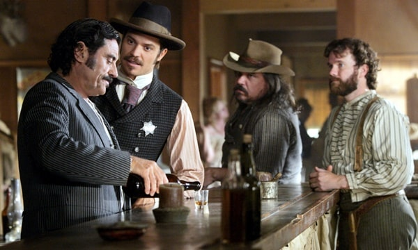 One of the 4 costly TV series HBO produced is Deadwood