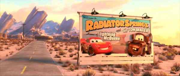 The Radiator Spring location shows up in multiple movies.