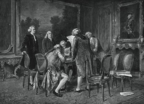 One of the top 5 greatest achievements by Benjamin Franklin was signing the French treaties.