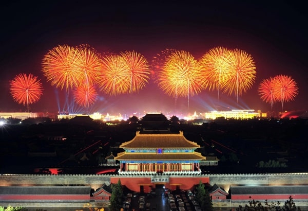 5 New Year's Eve tidbits - the Chinese use of fireworks for celebration (as depicted in the photo) was the first such usage in the world.