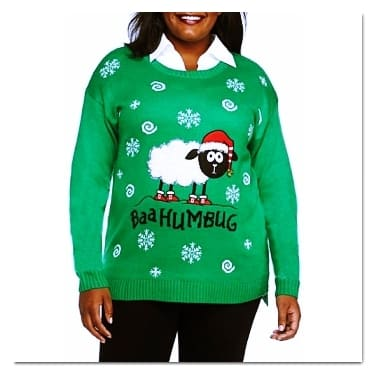 best ugly Christmas sweaters baa humbug sweater