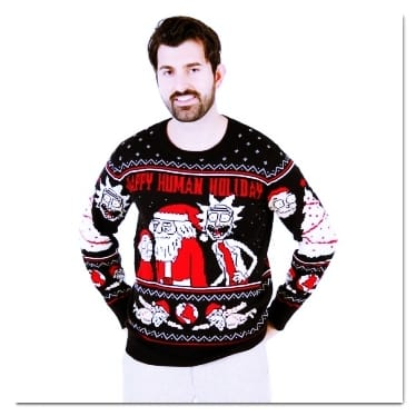 best ugly Christmas sweaters Rick and Morty sweater
