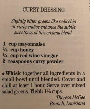 #Curry Dressing