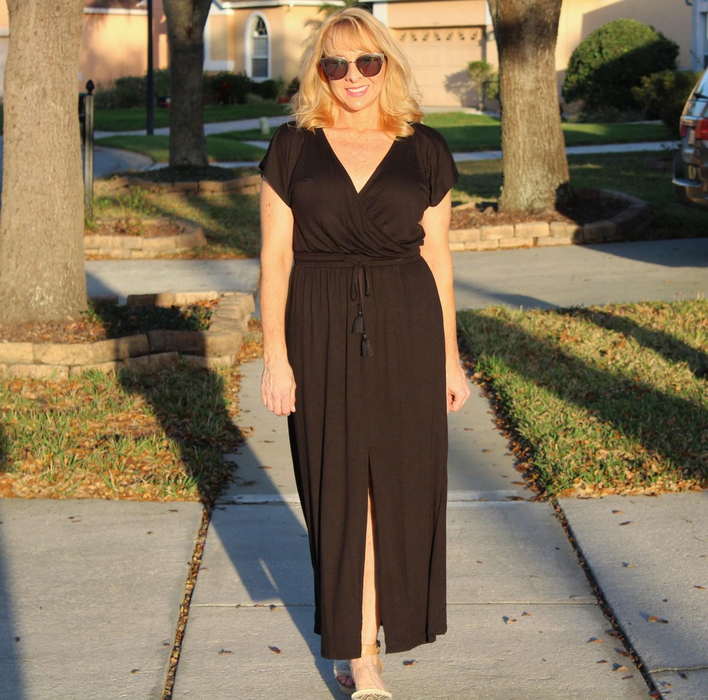 #Black Maxi Dress