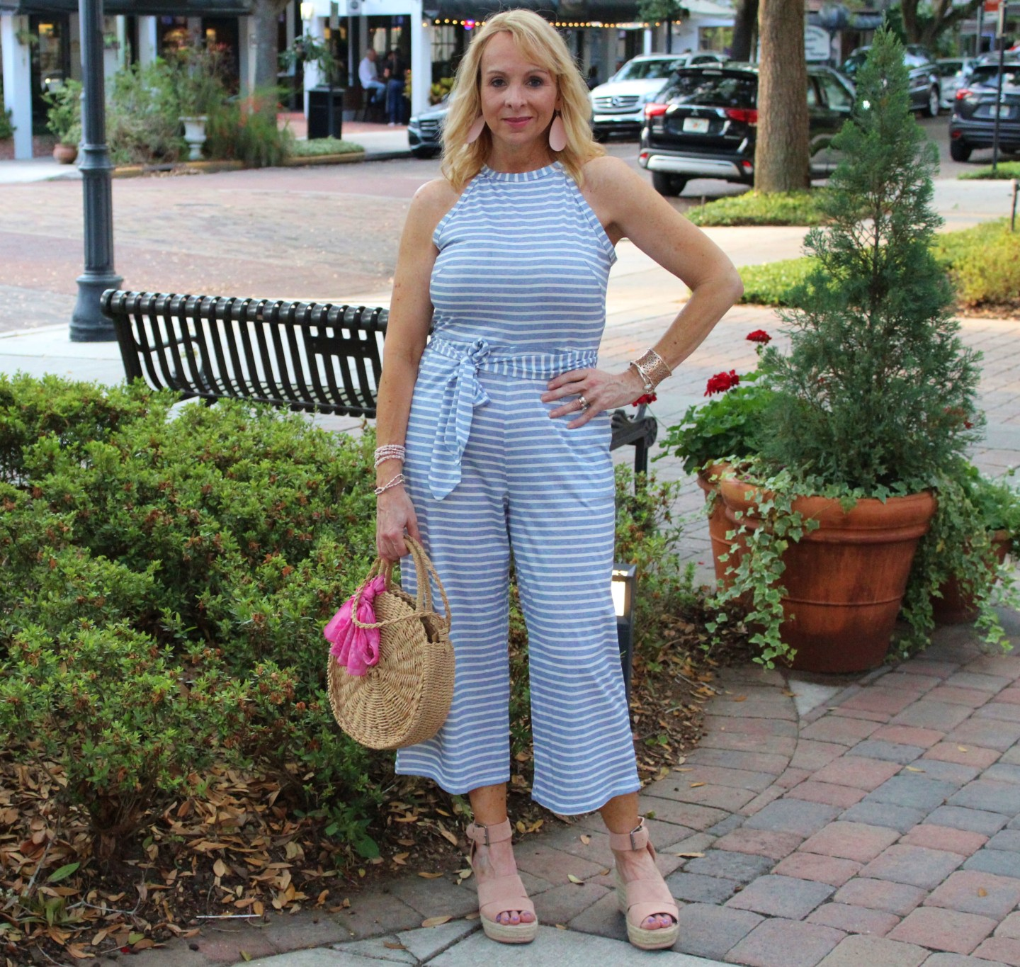 #striped jumpsuit