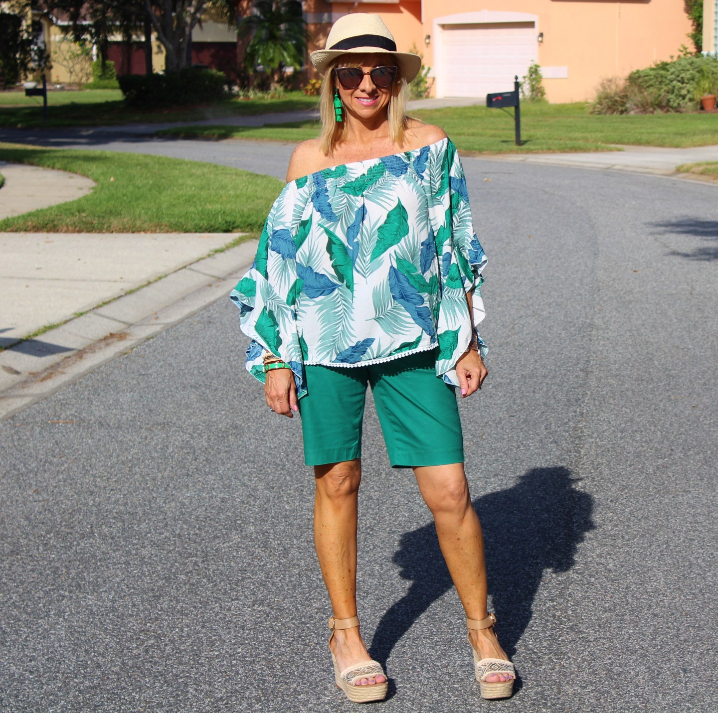 Palm Print Blouse